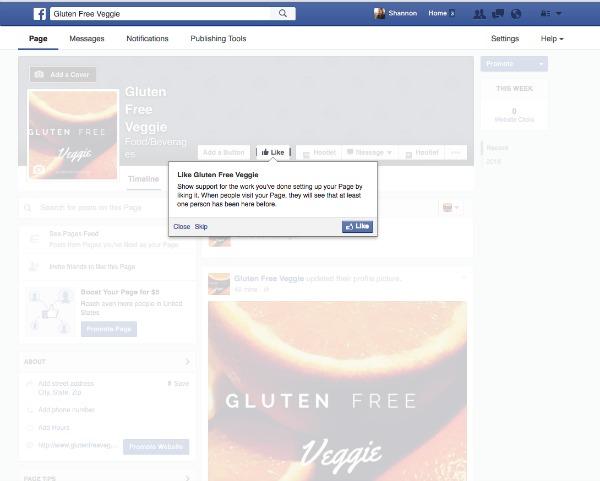 Gluten Free Veggie Facebook Page