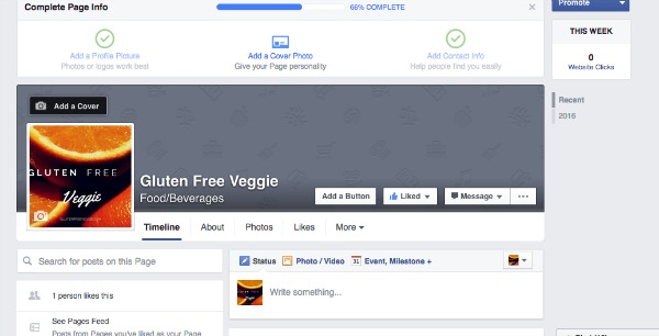 Gluten Free Veggie Facebook Page Add Cover Photo
